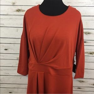 Eloquii Dress Burnt Orange Size 18 Short Sleeve